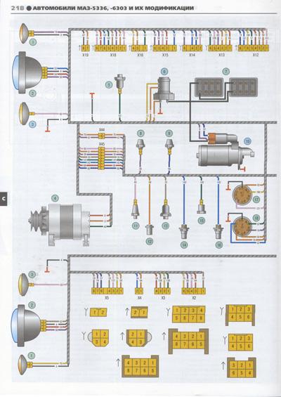 Электросхемы МАЗ 5336