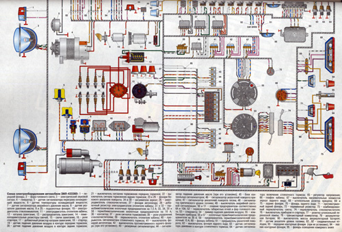 Электросхемы ЗИЛ 433110