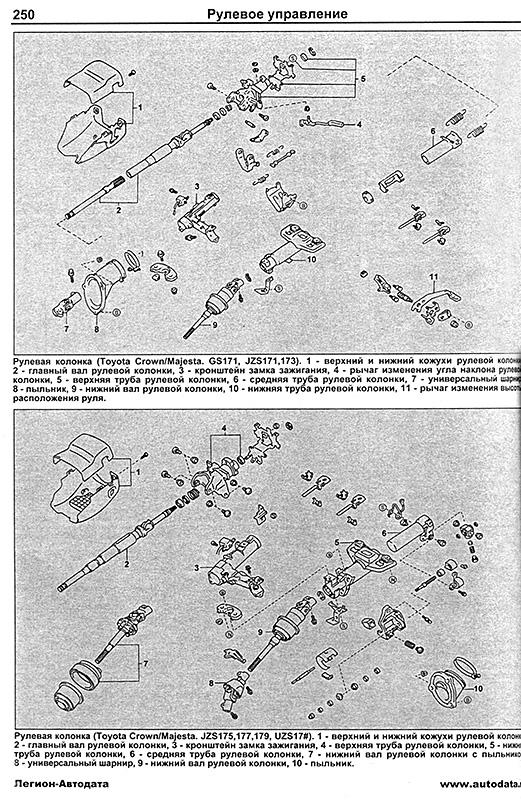 руководство по ремонту toyota crown 1995-2001 бензин скачать