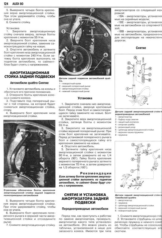 Мануал по ремонту Audi 80 B4