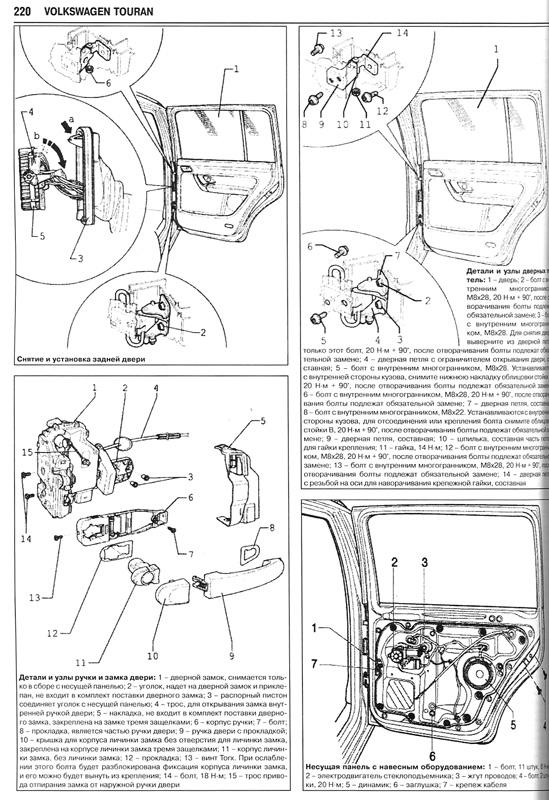 Книга по ремонту VW Touran