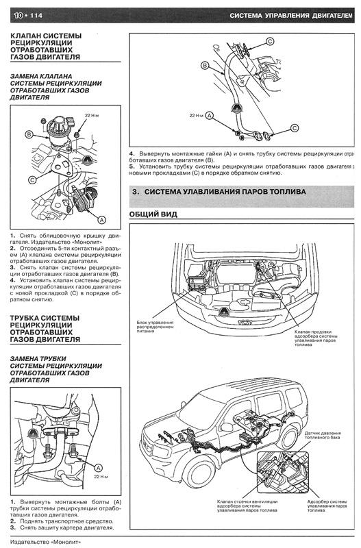 Книга по ремонту Хонда Пилот