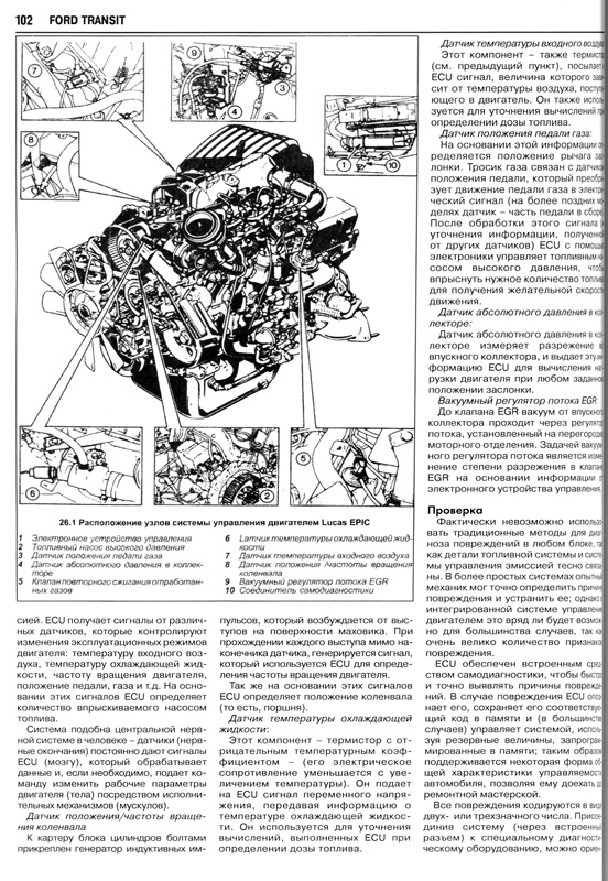 инструкция по эксплуатации форд транзит 2.5 дизель