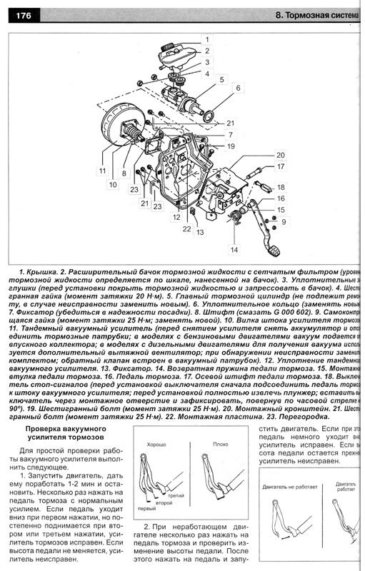 руководство по эксплуатации и ремонту Фольксваген транспортер т4