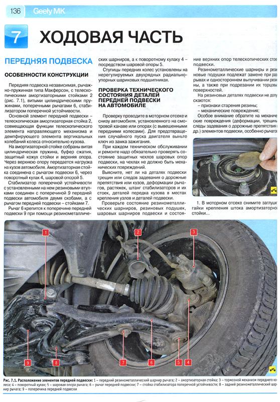 Инструкция по ремонту Джили МК