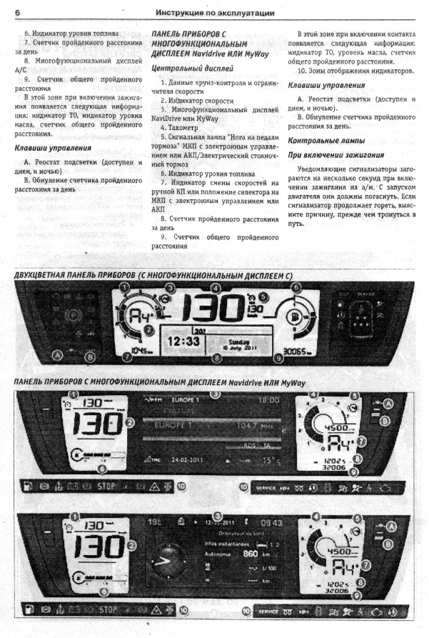 инструкция по эксплуатации ситроен с4 пикассо 2010
