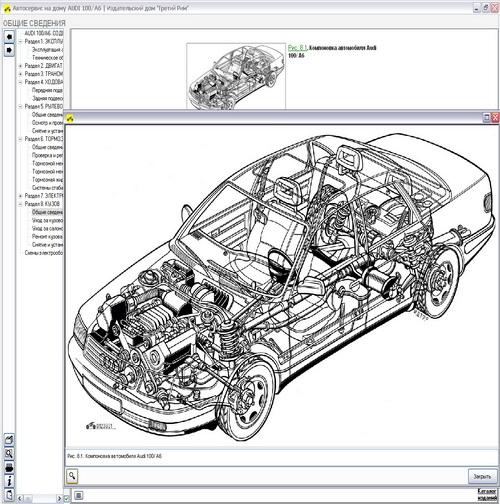 Электронное руководство по ремонту, техническому обслуживанию и эксплуатации автомобилей Audi 100 / A6...