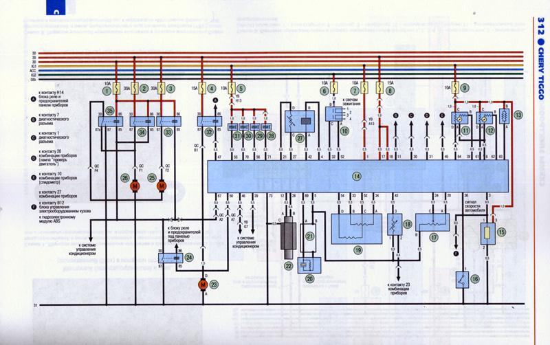 Схема электропроводки на вортекс эстина