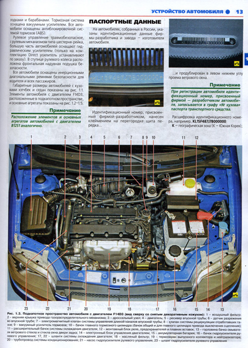 Руководство по обслуживанию Chevrolet Aveo