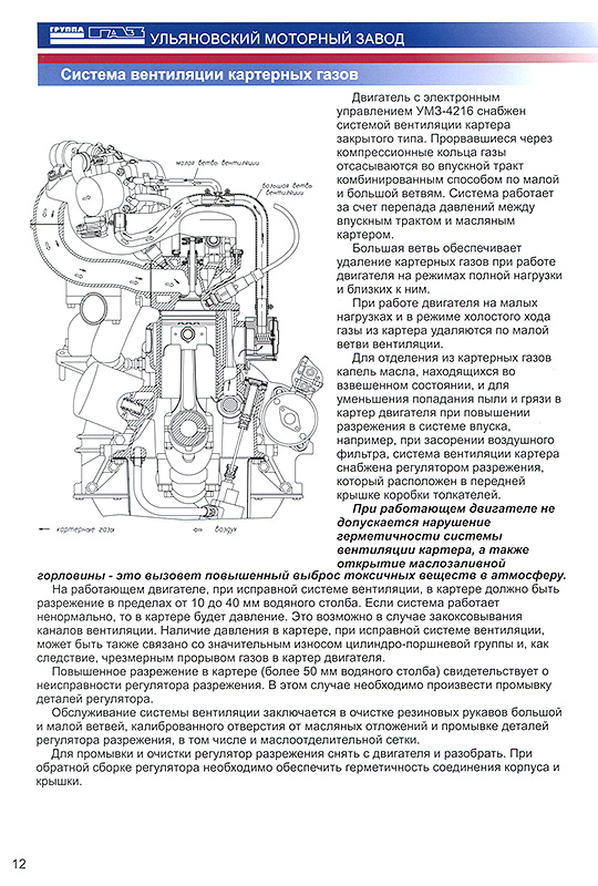 Устройство двигателей УМЗ-4213