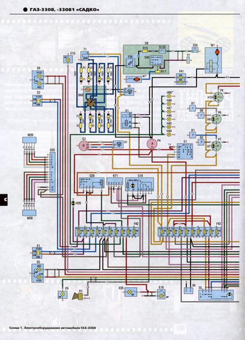 Электросхемы ГАЗ 33081