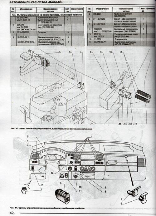 Каталог деталей ГАЗ-33104 Валдай