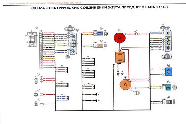 Электросхемы LADA 11173 Схемы