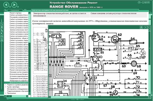 Электро схема на range rover
