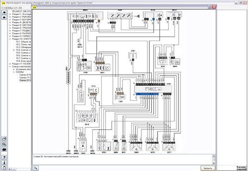 Схема проводки пежо 807