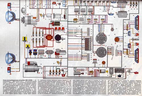 газ 3307 электросхема. газ