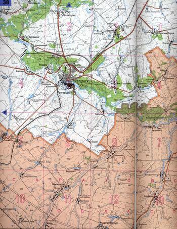 Карта Пенза