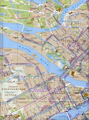 Схема автобусов Санкт-