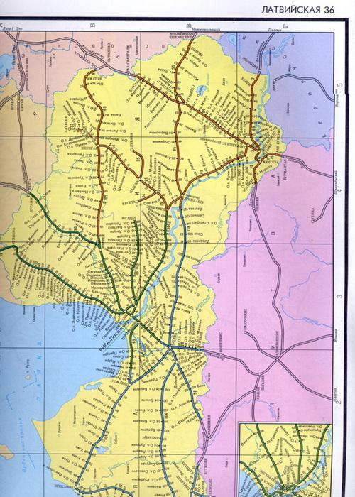 схем железных дорог Латвии