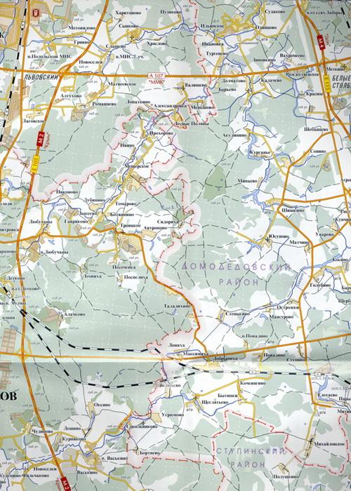 Схема города Чехова карта