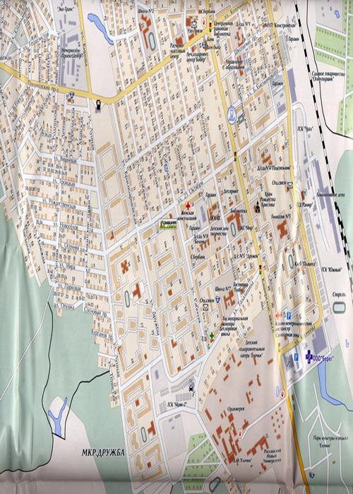 Схема города Домодедово, карта Домодедовского района.