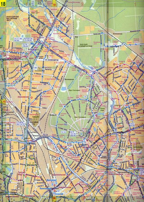 План центра Москвы