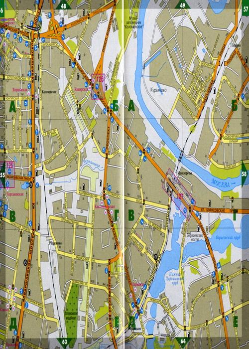 карта Москва карта МО