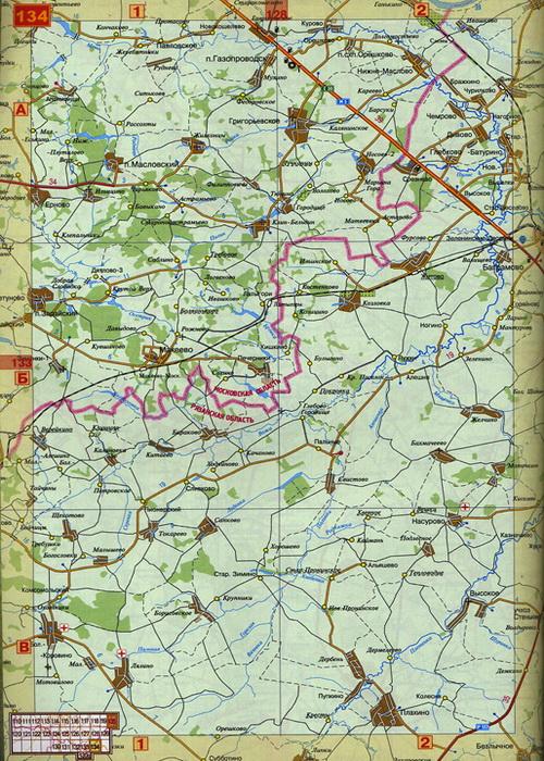 Карта Московская область