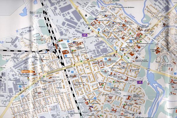 Схема города Клин, карта Клинский район.
