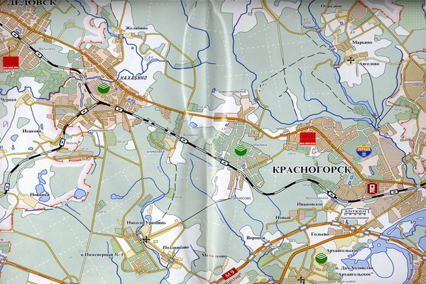 карта Красногорского