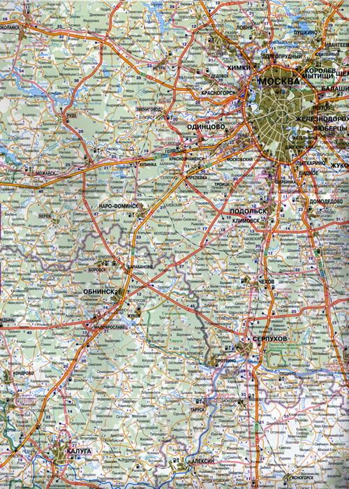 Карта автодорог Сочи Карта