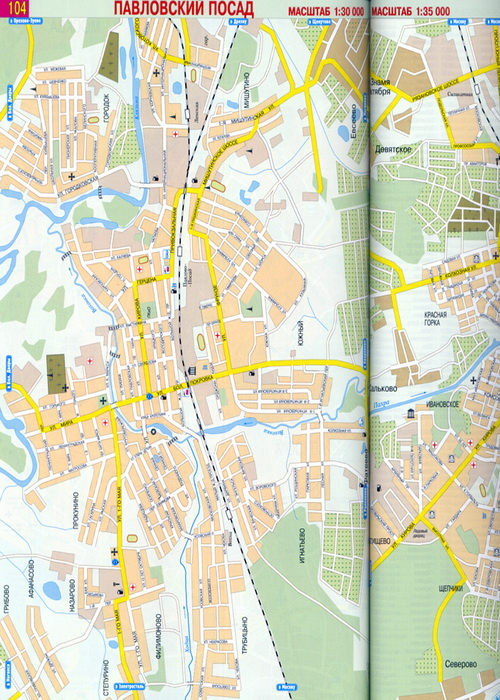 Схема расположения страниц плана г. Москвы 3 Условные обозначения 4 Схема расположения страниц карты МО 4-5 План г...
