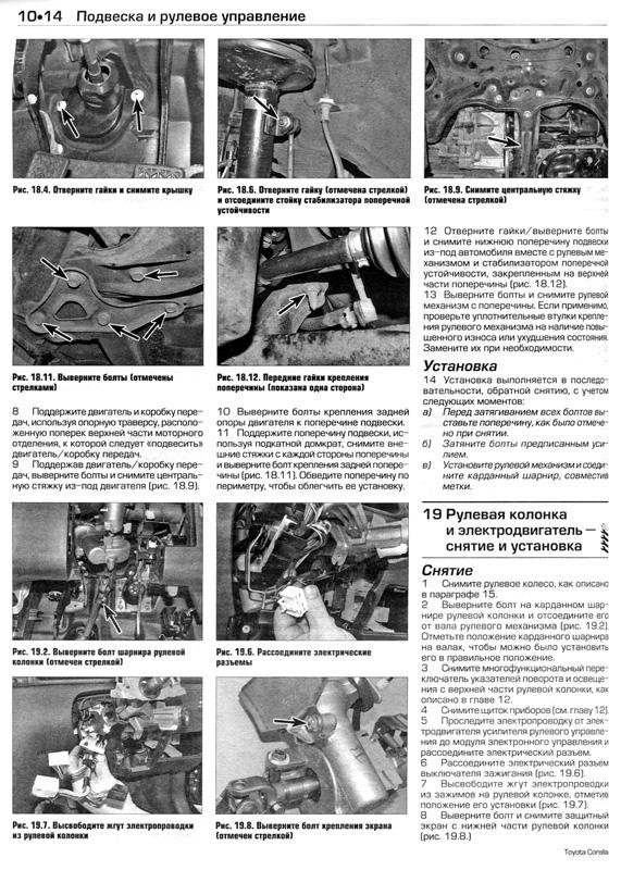 Руководство по ремонту и эксплуатации toyota corolla скачать бесплатно
