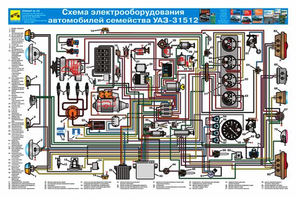 Схема Электрооборудование Уаз.