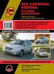 Kia carnival / sedona (киа карнивал) с 2006 и с 2010 бензин / дизель книга по ремонту и эксплуатации