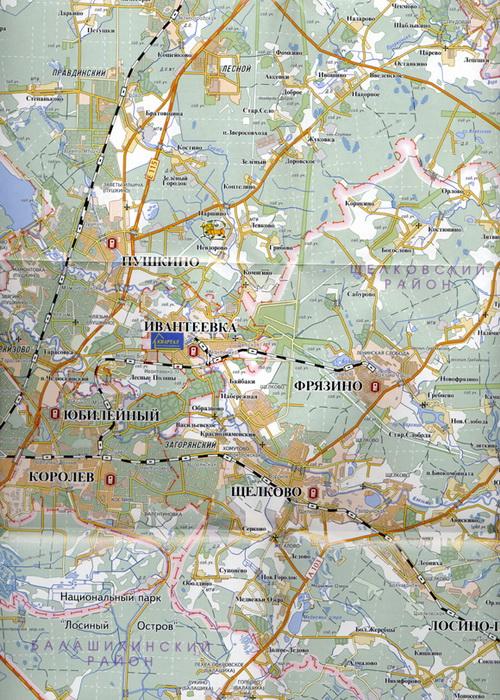 карта Пушкино Схема Пушкино