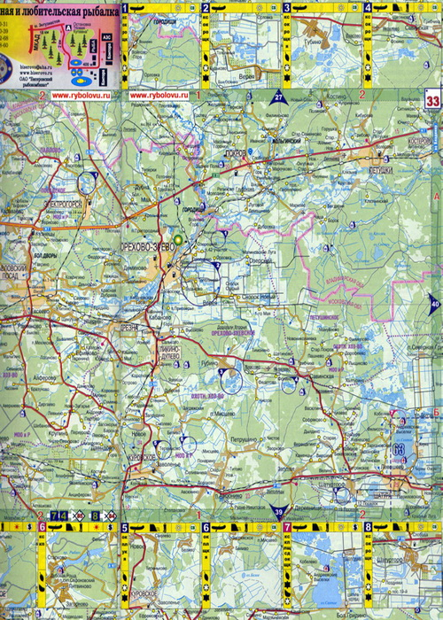 карты московской об для рыбалки