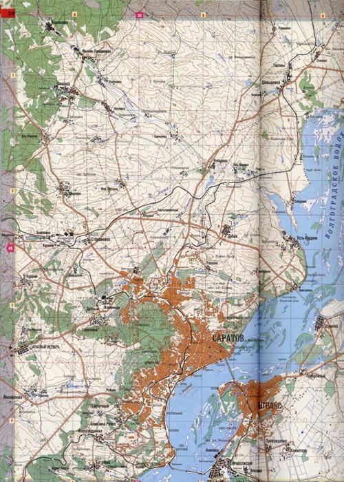 карта рыболова саратовской области
