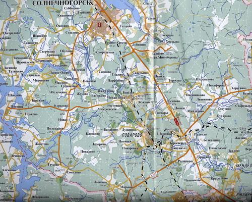 карта Солнечногорска Схема
