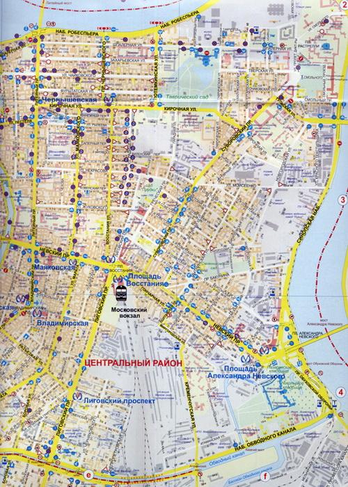 карта Санкт-Петербурга карта