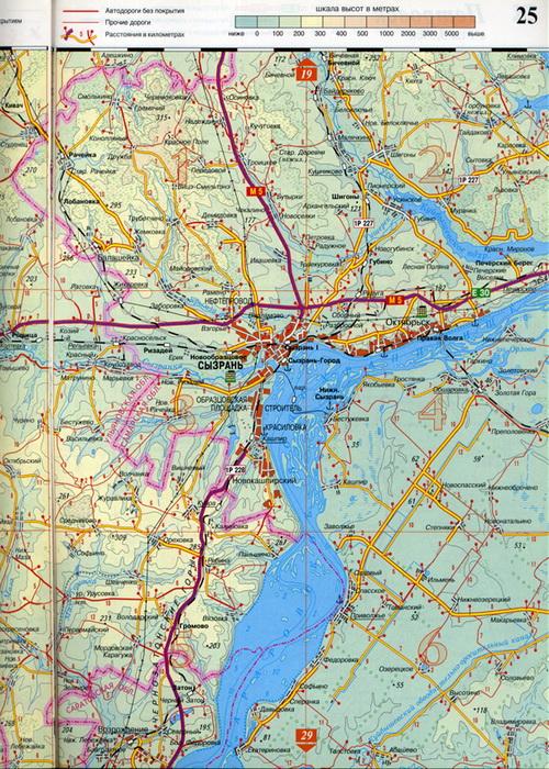 Автомобильная Карта Сызрани