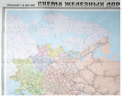 Схема железных дорог Литва