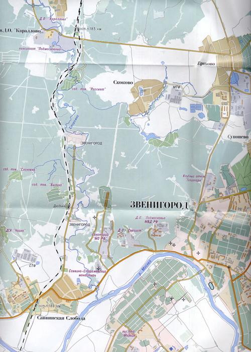 карта Звенигород