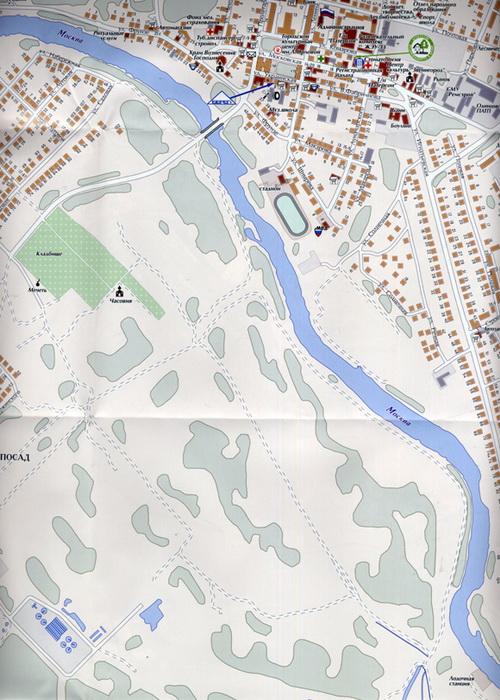 карта Звенигорода