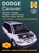 PLYMOUTH VOYAGER, CHRYSLER TOWN / COUNTRY, DODGE CARAVAN 1996-2002 бензин Пособие по ремонту и эксплуатации