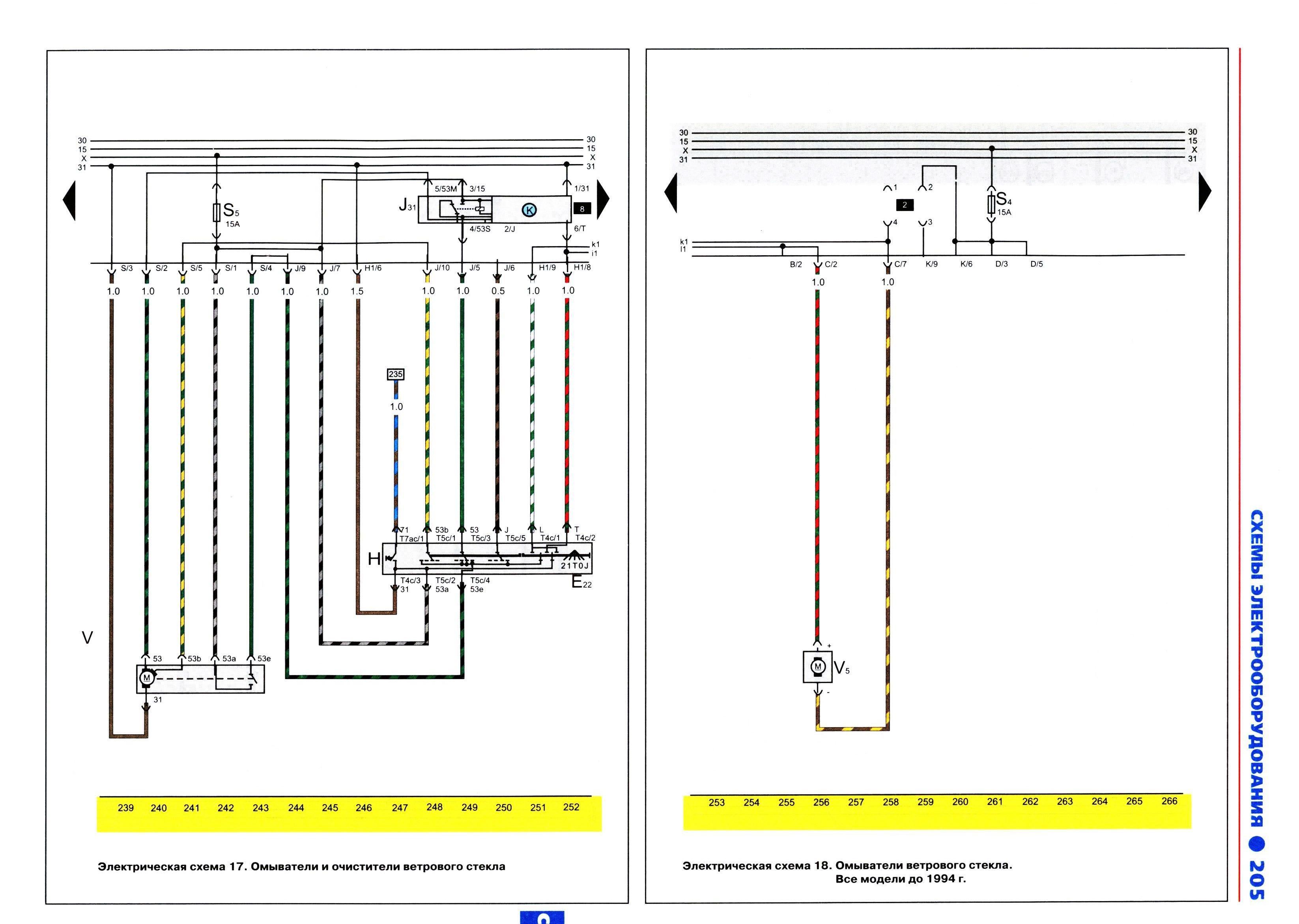 схемы электрооборудования volkswagen passat b4