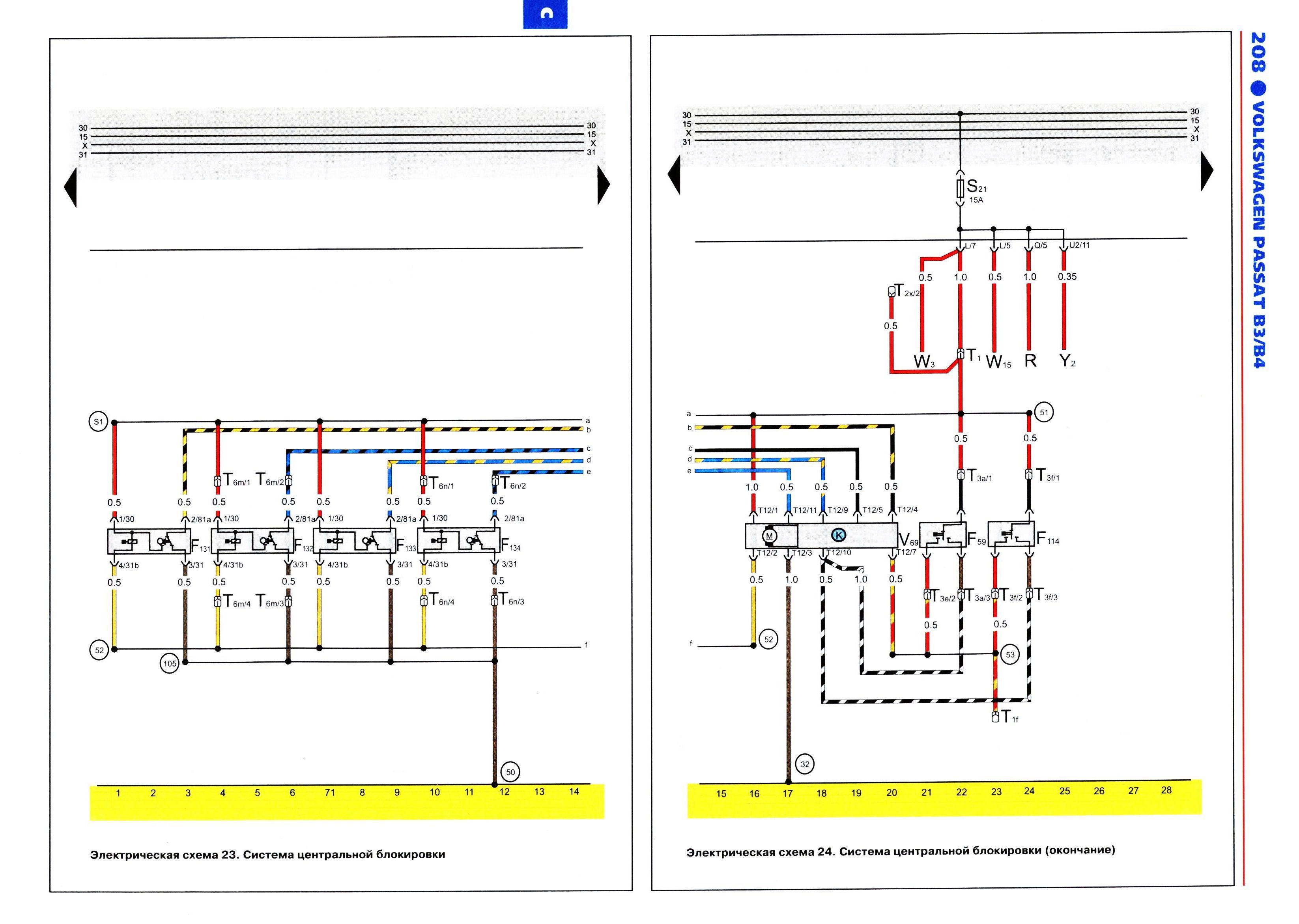 Схема управления центральным замком фольксваген5