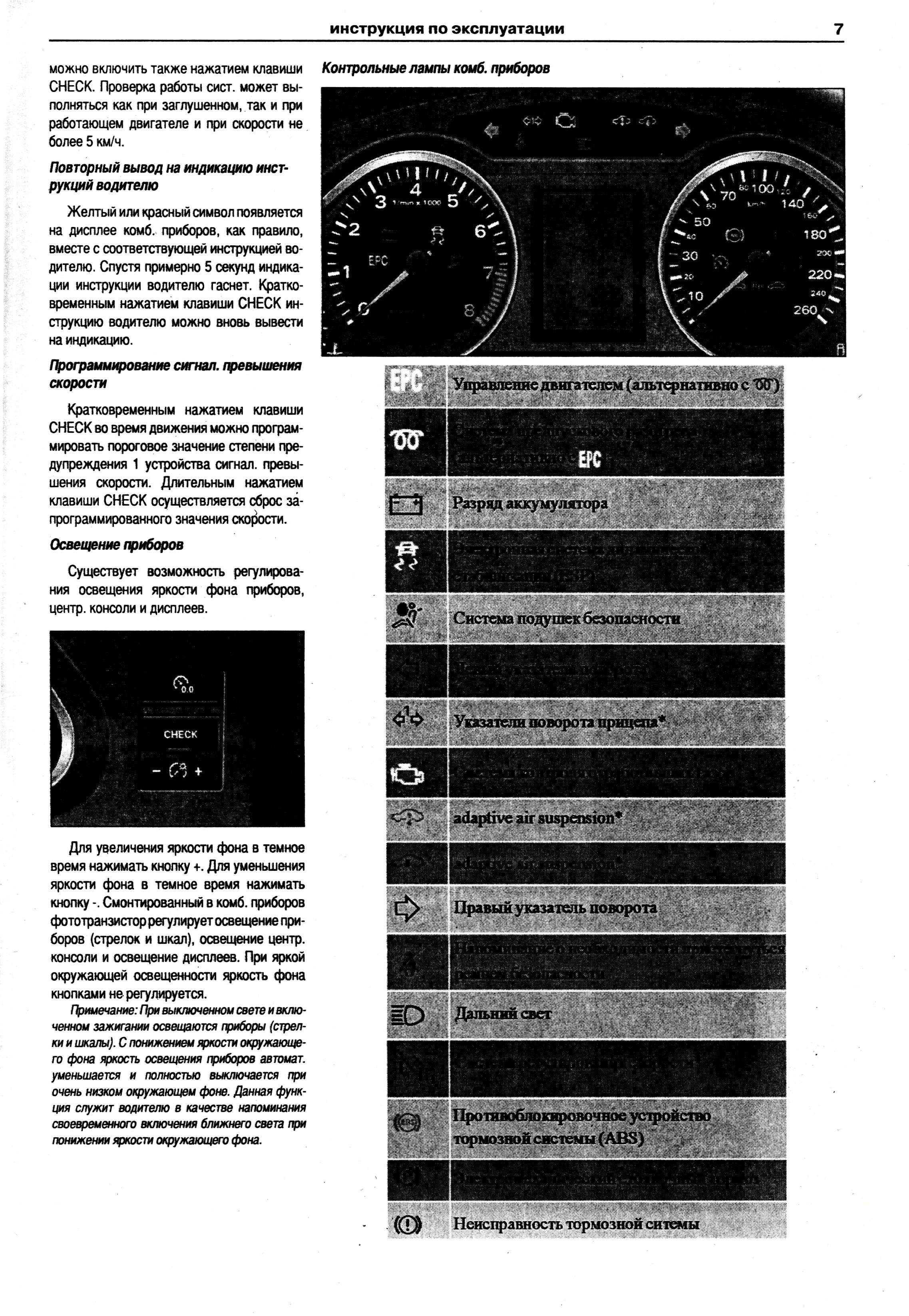 инструкция по панели приборов ауди а6 дизель