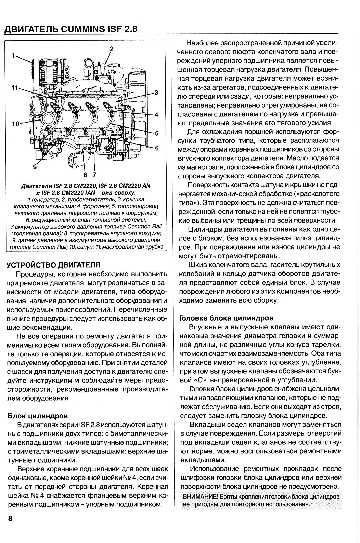 устройство и схема двигателя cummins 2,8