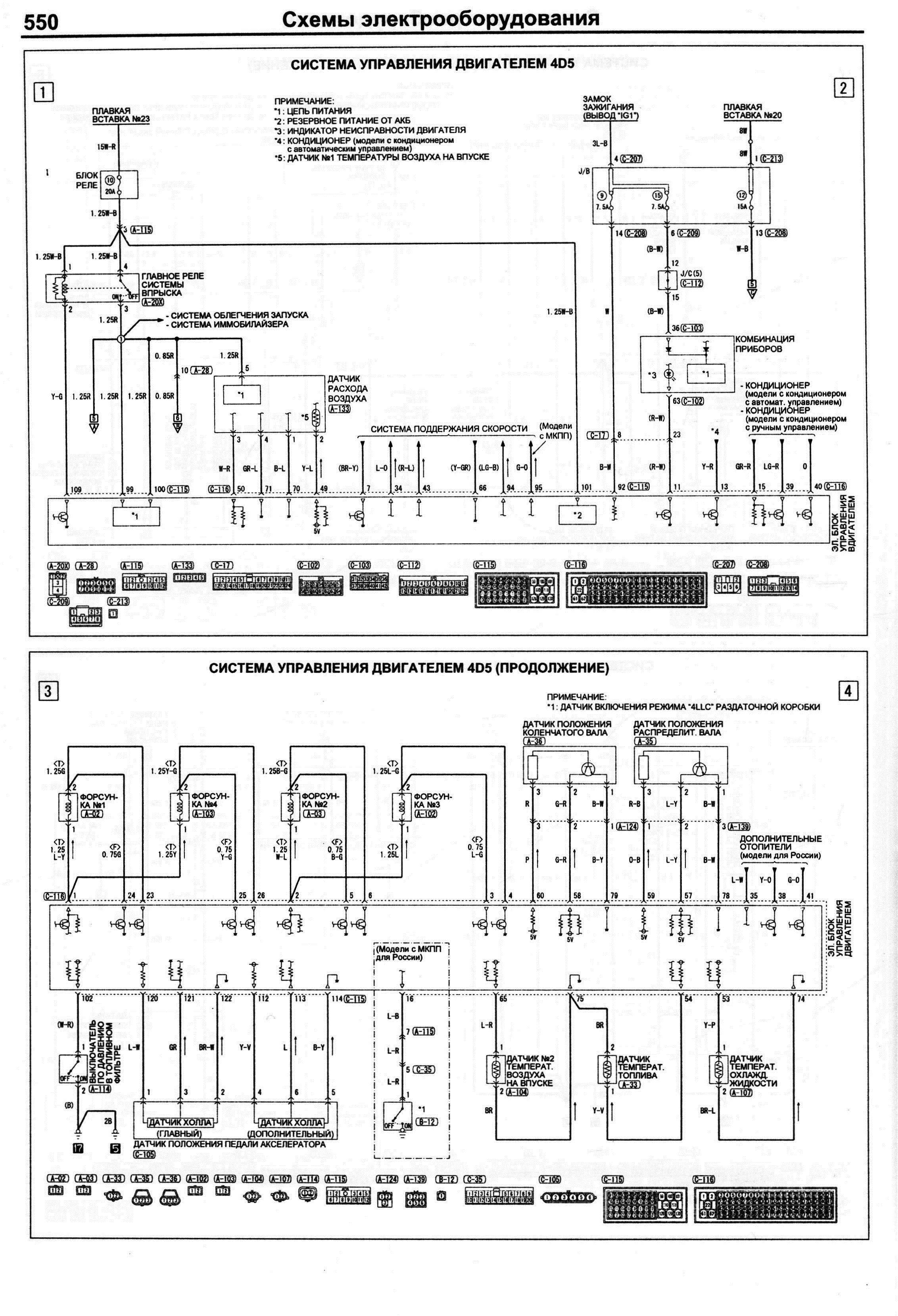 схема электропроводки мицубиси л200